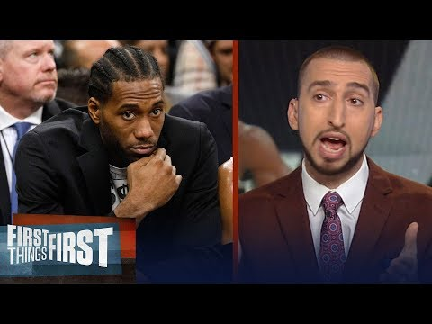 Nick Wright weighs in on Spurs drama between Kawhi and Popovich | FIRST THINGS FIRST