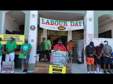 BPSU President Armell Thomas At Labour Day, Sept 7 2020