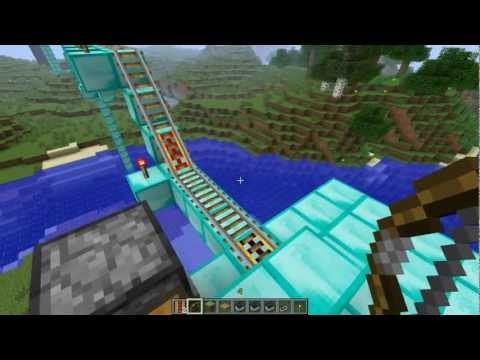 Minecraft Tutorial: How To Build Minecart Tracks: With Falls And Lava!