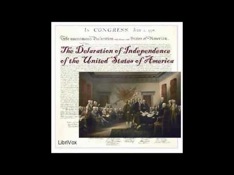 Free Historical Audio Book: Declaration of Independence by Thomas Jefferson et Alii
