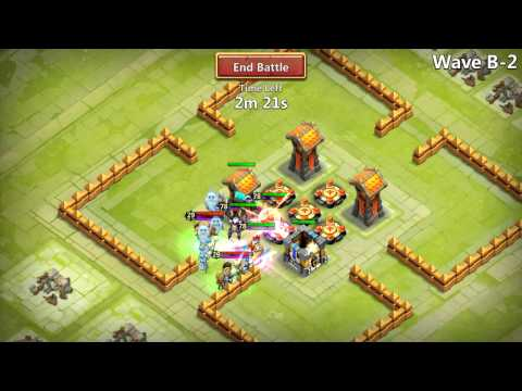 Castle Clash HBM Wave B Completed With Only 3 Heroes!