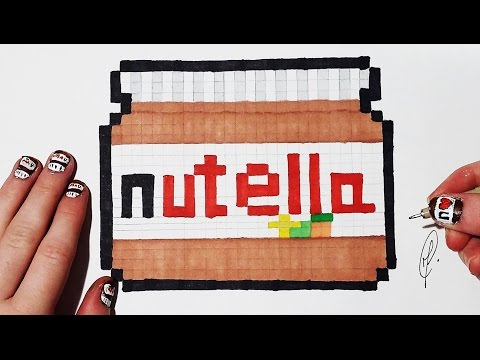 Easy Pixel Art Nutella Youtube