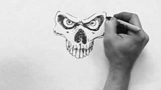 skull speed drawing dirtdesignsgraphic com