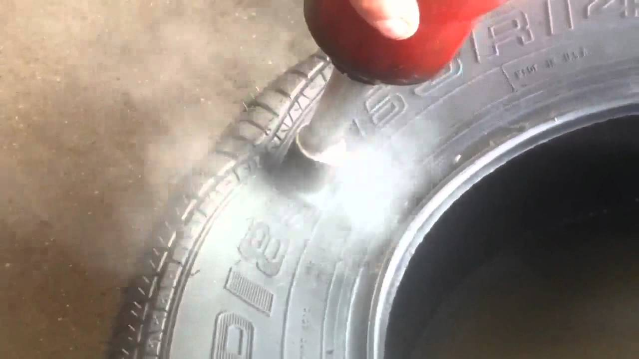 How to properly fix tire on the sidewall - YouTube