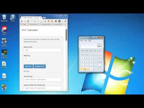 Adding and Removing VAT (Value Added Tax) using a calculator