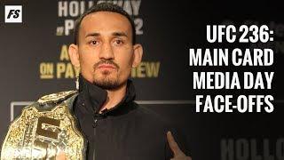 UFC 236 media day face-offs