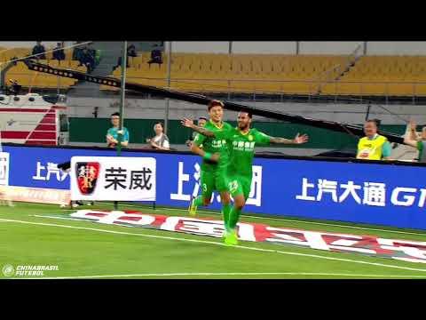 Gols Bakambu e Jonathan Viera - Beijing Guoan x Guizhou Hengfeng - 8a Rodada da Super Liga da China