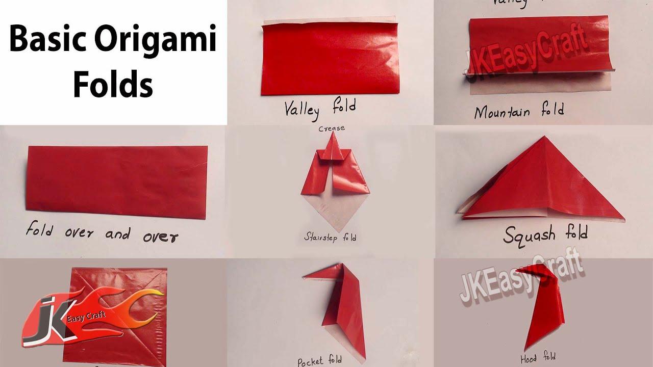 Origami For Beginners #1 Basic Folds JK Easy Craft 011 ... - photo#41