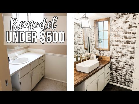 bathroom-remodel-under-$500-🔨