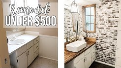 BATHROOM REMODEL UNDER $500 🔨