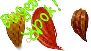 видео урок по рисованию волос в саи