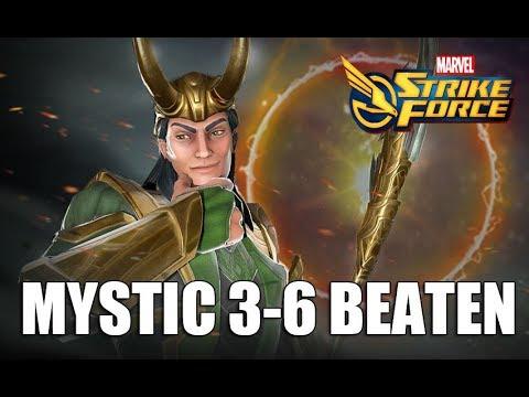 Farming Loki - How to Beat Mystic 3-6 (3 Strategies) - Marvel Strike Force