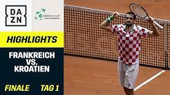 Davis-Cup-Finale Tag 1: Frankreich - Kroatien | Davis-Cup | DAZN Tennis
