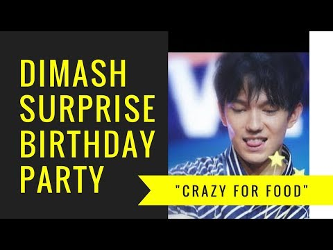 """Dimash's """"Surprise Night"""" birthday party—Crazy For Food (English Subtitles)"""