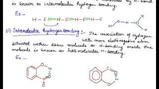 Hydrogen Bonding, H-Bonding, Intermolecular Hydrogen Bonding, Intramolecular Hydrogen Bonding