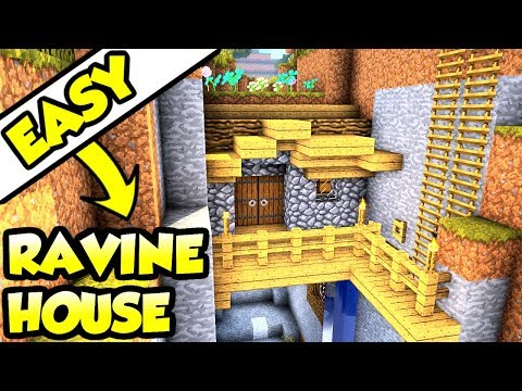 Minecraft Tutorial: Advanced Ravine House Build