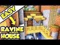 Minecraft Tutorial: Advanced Ravine House Build
