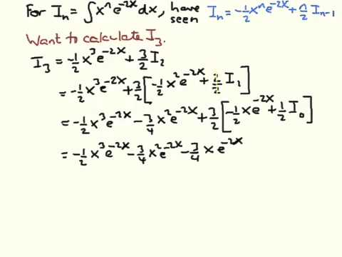 Reduction formula example and check - YouTube