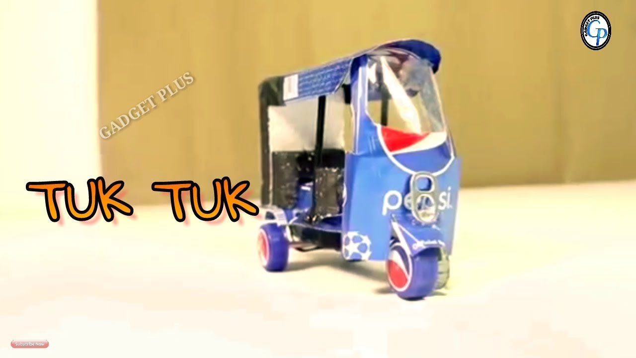 Download How To Make An Electric Rickshaw Tuk Tuk  Out Of Pepsi Cans