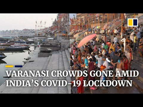 India's famous Ganges funeral pyres at Varanasi burn low amid coronavirus lockdown