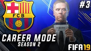 FIFA 19 Barcelona Career Mode EP3 - Champions League Group Stage Draw!! El Clásico!!