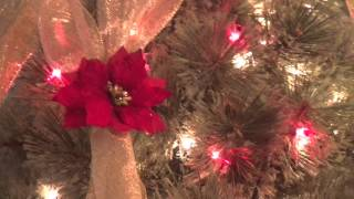 How to Criss Cross Ribbon on Your Christmas Tree
