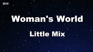 Woman's World - Little Mix Karaoke 【No Guide Melody】 Instrumental