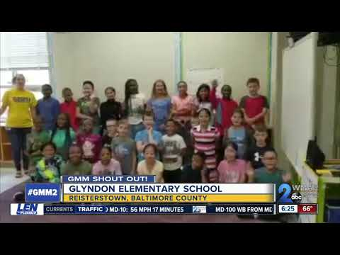 Good morning to Glyndon Elementary School!