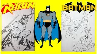 Batman Robin and The Riddler Commits Robbery DC Comics Coloring Book