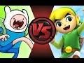 FINN (Adventure Time) vs TOON LINK! Cartoon Fight Club Episode 95!