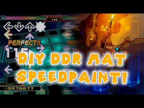Homemade DDR Mat Artwork SPEED PAINT!