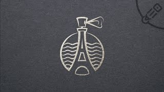 Отрисовка логотипа Парфюм и Эйфелевая башня. ( Speed Art Logo in Illustrator )