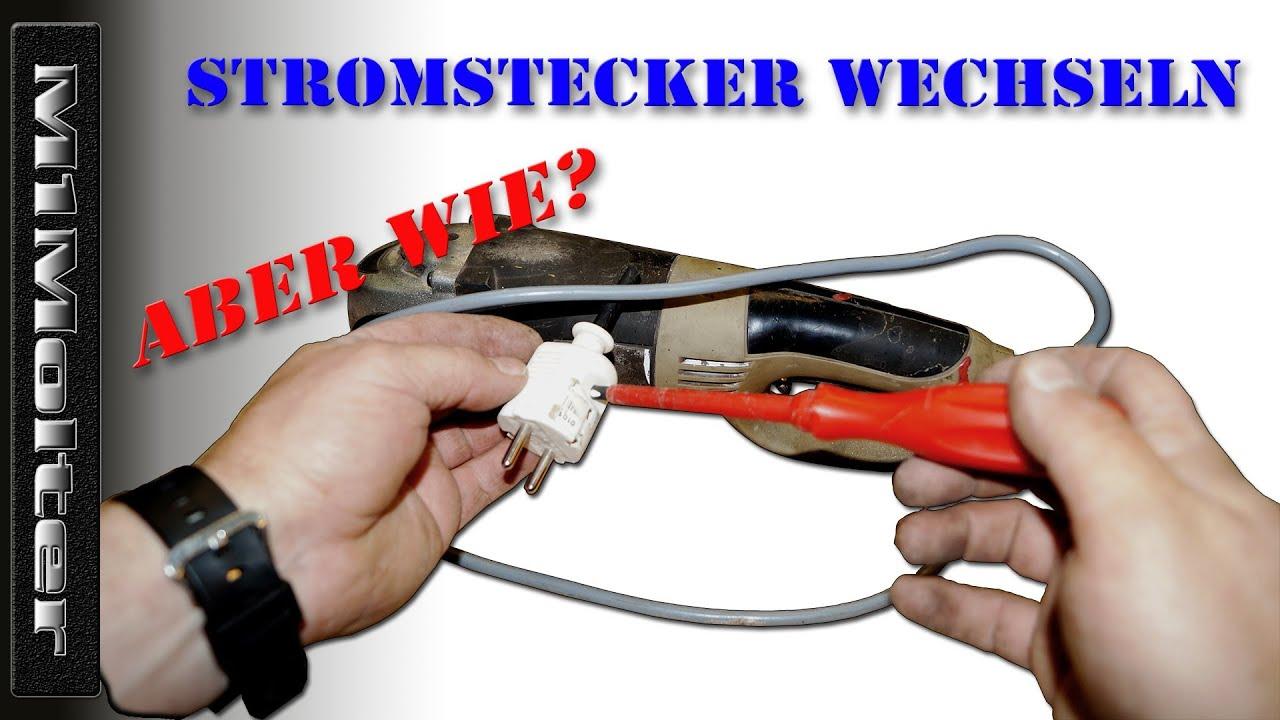 Stecker von Elektrogeräten tauschen wie? M1Molter - YouTube