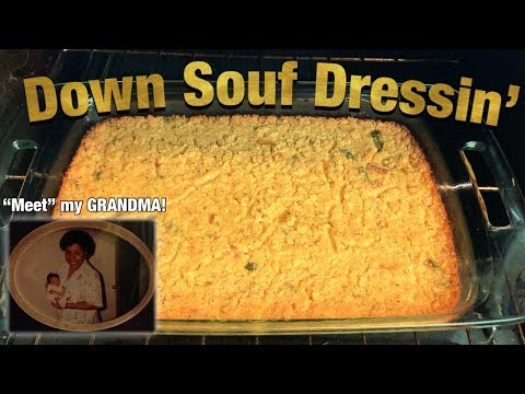 My Grandma Helped Me Cook TRUE Southern DRESSING For The First Time | Southern SOUL FOOD