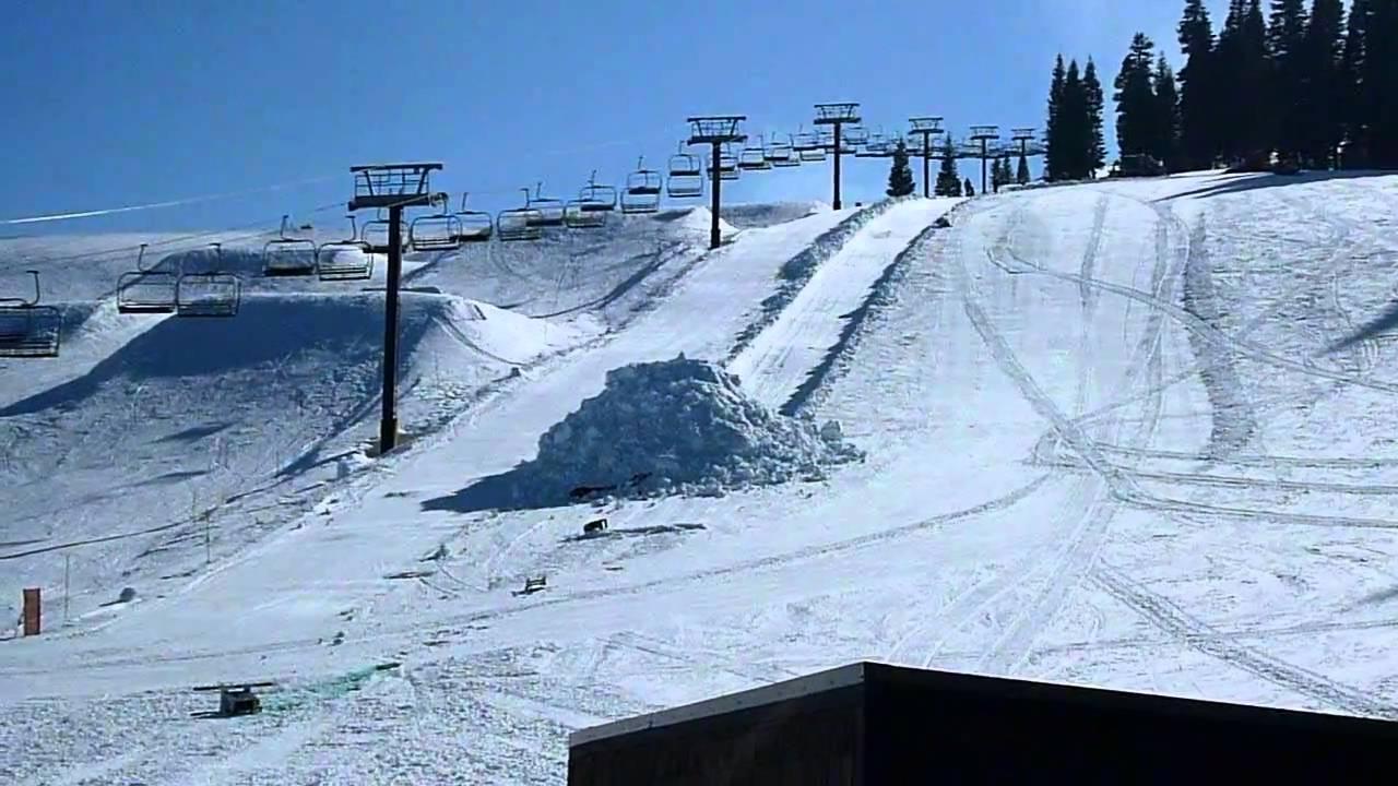 tahoe donner ski hill dummy drop 2011 - youtube