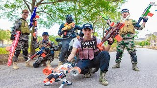LTT Nerf War : Two Squad SEAL X Warriors Nerf Guns Fight Criminal Group Dr.Lee