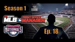 MLB Front Office Manager Washington Nationals   Ep. 18 Barn Burner / Close Game