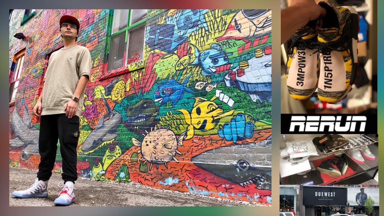 new product 0e1e8 d2445 1er jour à Toronto: Graffiti Alley, Due West (Stone Island), Human Race,  Rerun (HypeBeast Store)