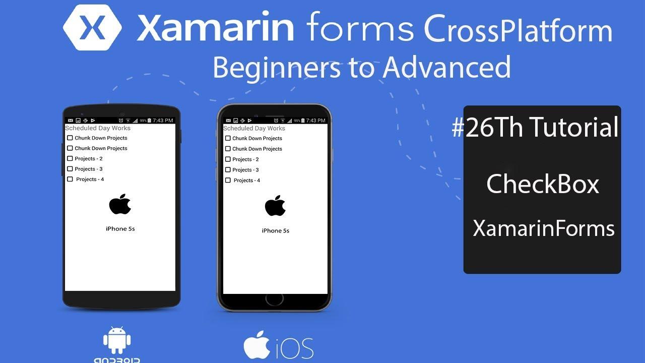 Xamarin Forms CheckBox [Tutorial 26]