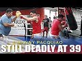 INDREDIBLE PACQUIAO'S SPEED AT 39 AHEAD OF HIS FIGHT WITH MATTHYSSE