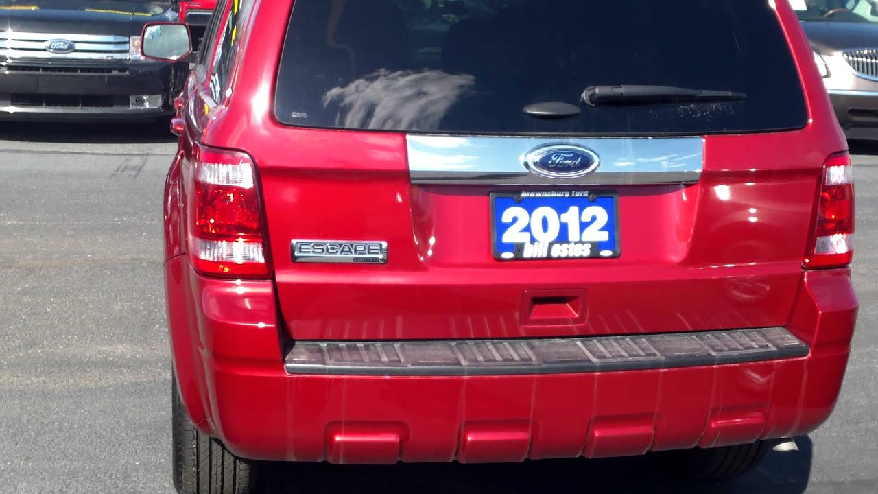 Bill Estes Ford Brownsburg Indianapolis 2012 Ford Escape Limited Red