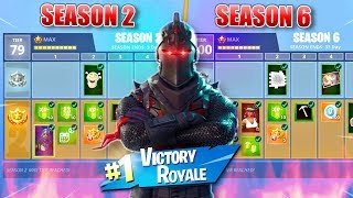 The DEVELOPMENT of THE FORTNITE BATTLE PASS (Season 2 VS Season 6)