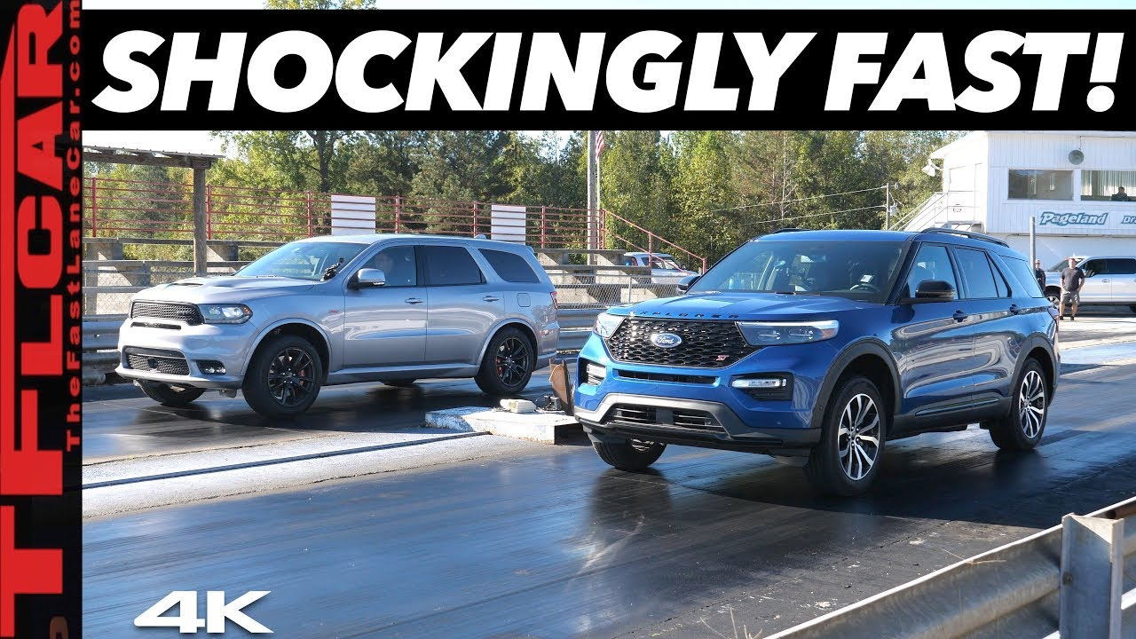 Ford Explorer St Vs Dodge Durango Srt Drag Race Can A 600 Tune Beat America S Fastest 3 Row Suv Youtube