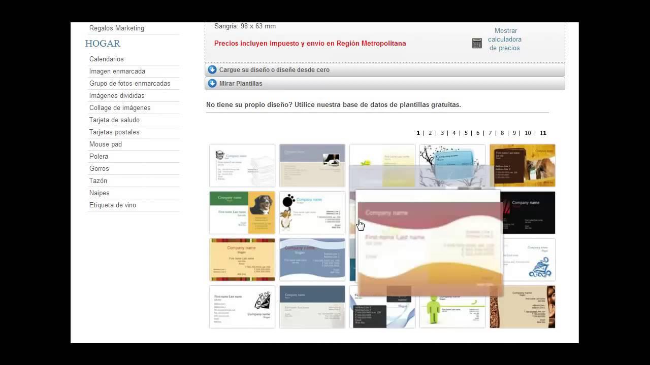 Plantillas de tarjetas de presentación - YouTube