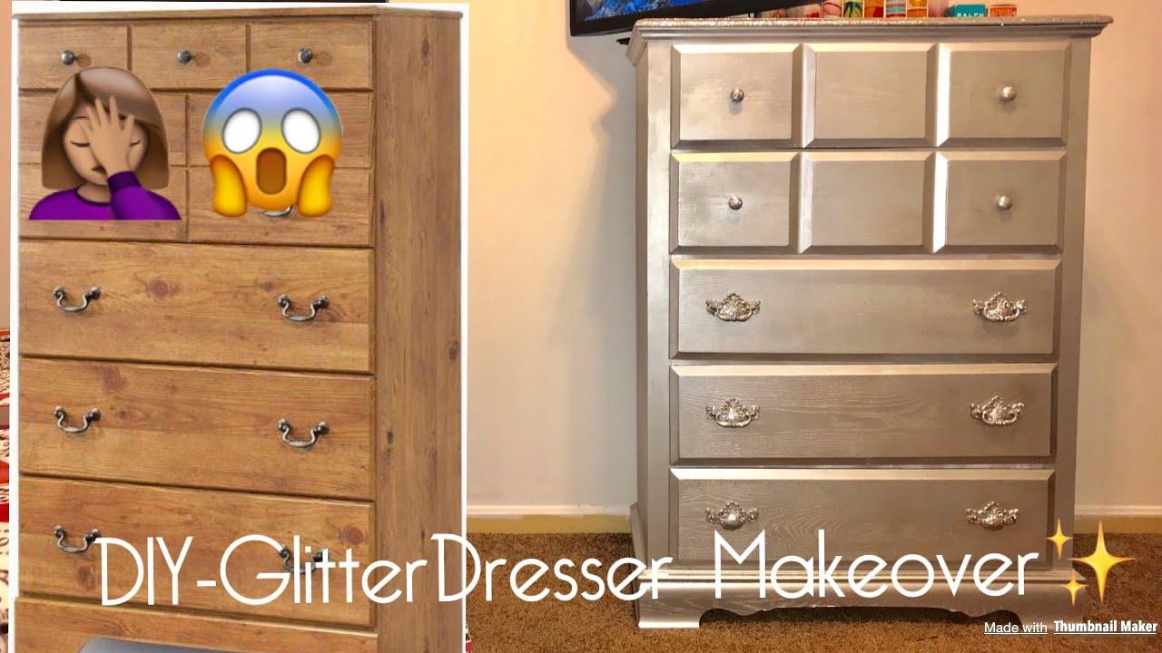DIYGlitterDresser  GlitterFurniture  Makeover 90637043f