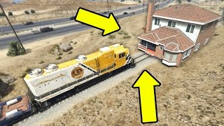 CAN A HOUSE STOP THE TRAIN IN GTA 5?
