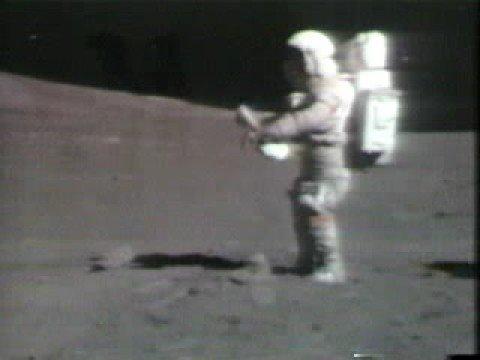 Apollo 15 Dave Scott falling