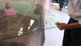 Corte de circulo en vidrio
