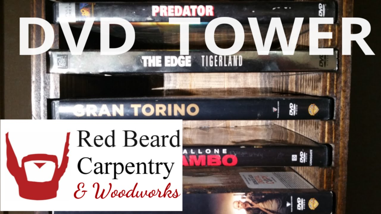 Building A Dvd Rack Tower Shelf From Wood