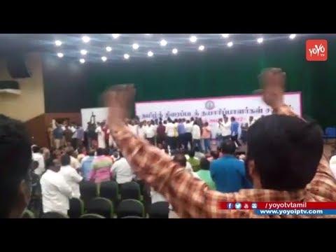 Director Cheran Real Behavior In Vishal Nadigar Sangam Meeting | podhukulam  | YOYO TV Tamil